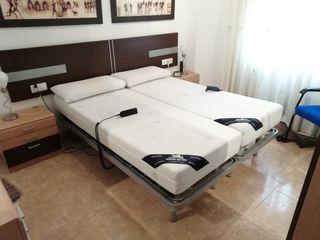 2 camas articuladas+colchón viscoelastica