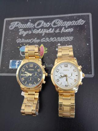 relojes oro chapado acero inoxidable