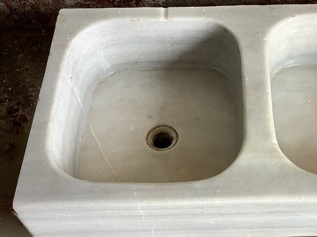 Fregadero mármol de 2 senos
