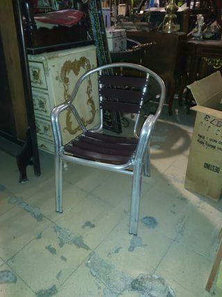 15 sillas aluminio de exterior