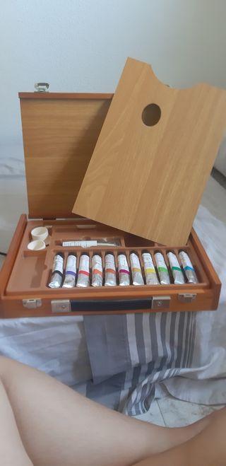 maletin pintura óleo