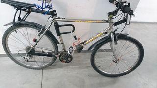 bicicleta adaptada urbana. cromomoly.