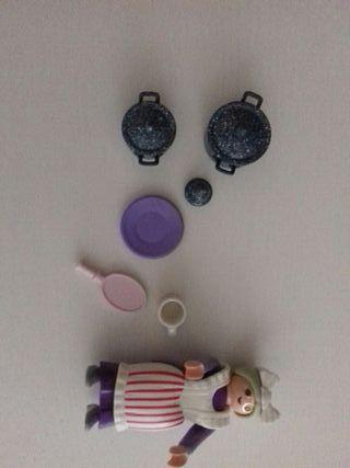 Cacerolas accesorios casa de muñecas