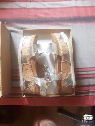 SANDALIAS PLATAFORMA plata