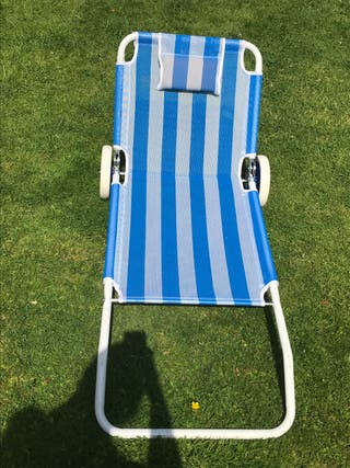 Reclining sun lounger on wheels ( open to offers)