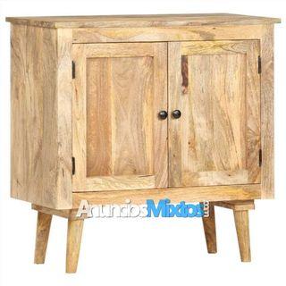 Aparador de madera maciza de mango 75x35x75 cm