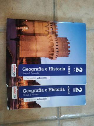 Geografía e Historia 2° ESO (2 libros)