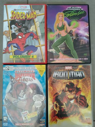 4 DVDs Superhéroes Marvel