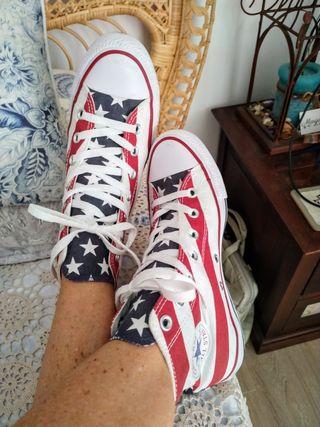 Zapatillas Converse All Star bandera americana