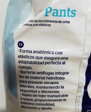 Braga pañal adulto ABS Pants Pequeño (cintura 50-9