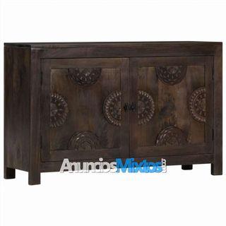 Aparador con diseño tallado madera maciza mango 11