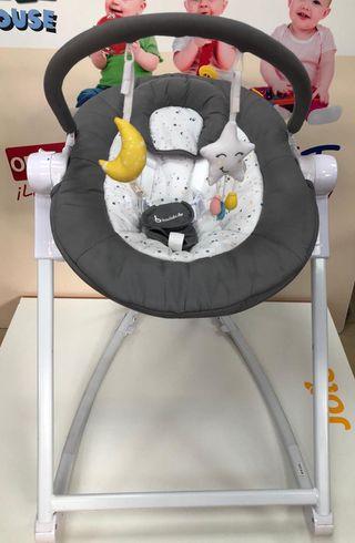 Hamaca tumbona alta para bebés BADABULLE