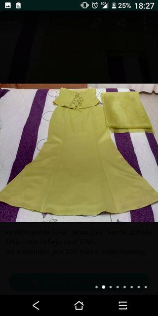 vestido de fiesta talla 42 con pasmina