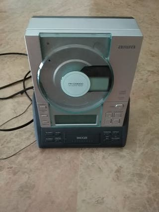 Radio reloj despertador con lector de CD