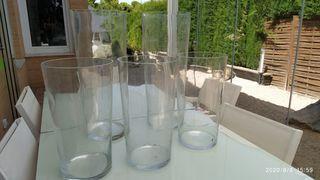 Jarrones de cristal grandes