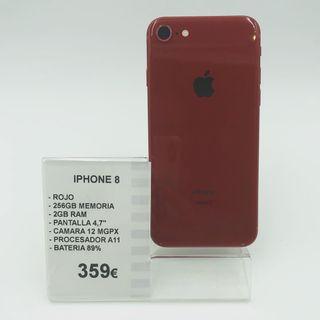 iPhone 8 / 256 GB / Color Rojo