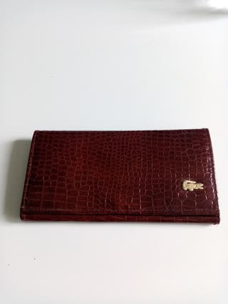 cartera crocodile leather