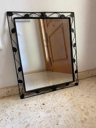 Espejo marco hierro