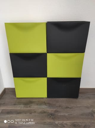 Zapatero Trones Ikea Verde y Negro