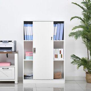Armario de Oficina con 2 Puertas Correderas y 3 Es