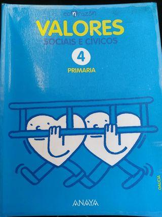 Libro de Valores Sociais e Cívicos 4 Primaria