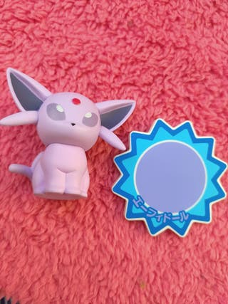 Pokémon Figura Espeon con Base Pocket Monsters