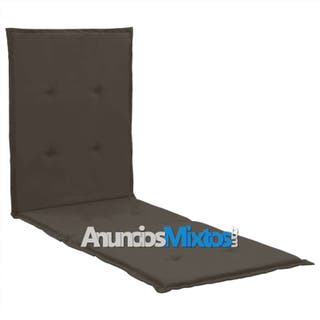 Cojín para tumbona gris antracita 180x55x3 cm