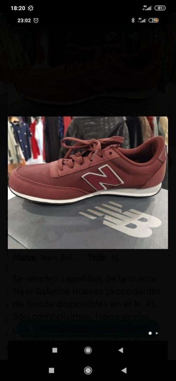 Zapatillas dep. New Balance nuevas T. 41