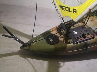 kayak Tuna Plus 1+1 con Vela Eola en La Herradura