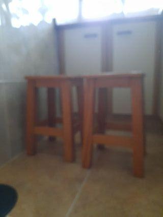 taburete cocina madera pino