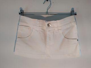 Minifalda vaquera blanca