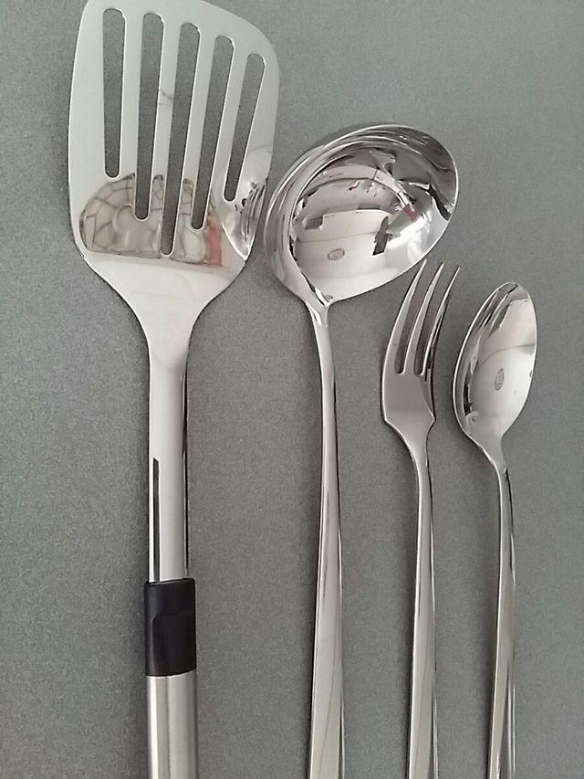 Cucharón Paleta freir Tenedor y cuchara de servir