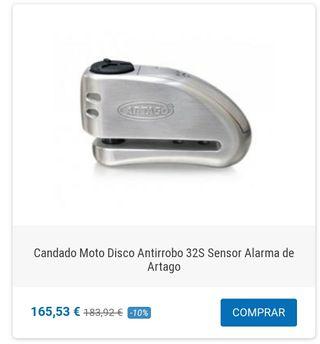Candado de disco con alarma Artago 32 S