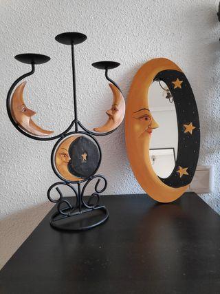 Candelabro y espejo