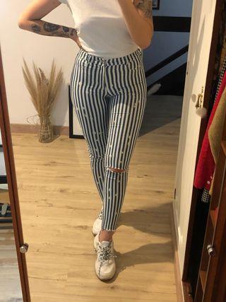 Pantalón rayas Zara