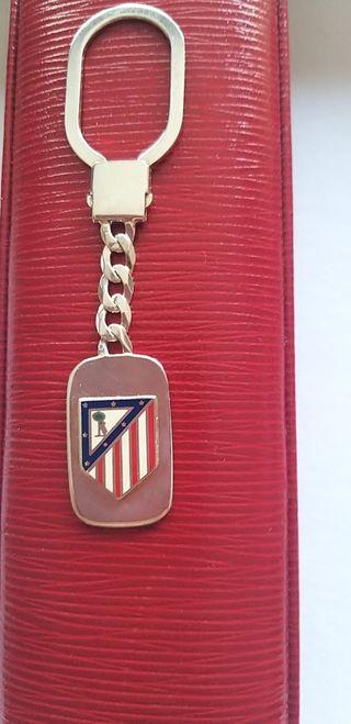 Llavero plata escudo Atleti de Madrid