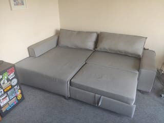 Sofa bed, MADE.com stone grey