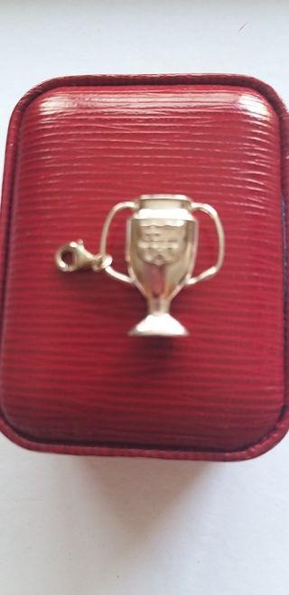 Colgante plata copa FCB