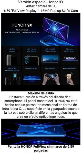 Huawei honor 9x. Precintado. V. Global