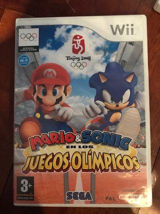 """juego wii """"mario & sonic"""""""