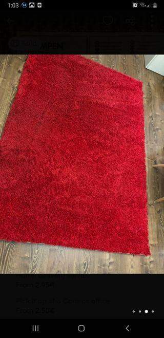 alfombra ikea pelo largo