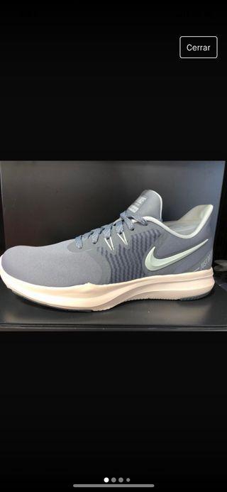 zapatillas gris running mujer nike