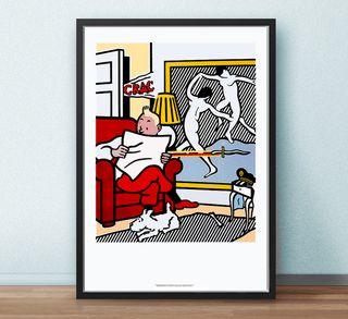 Roy Lichtenstein 'Tintin Reading' 1994 Poster lito
