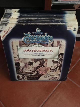 lote de discos (29 LPs), colección LA ZARZUELA