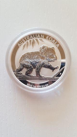 1 Onza Kookaburra 2016.Plata 999%.