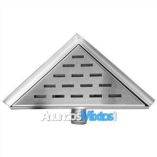 Desagüe de ducha triangular 25x25 cm acero inoxida