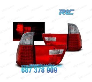 PILOTOS BMW X5 E53 99-03 LED ROJO/CROMO