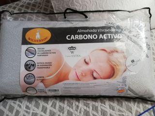 Almohada Viscoelástica Carbono Activo Reversible Medidas 70cm