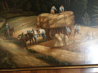 Pareja de cuadros al oleo pintor italiano