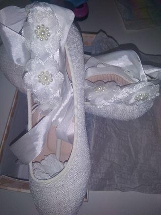 zapatos niña comunión